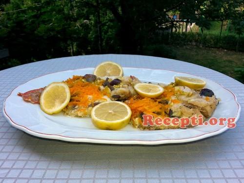 Škarpina sa povrćem